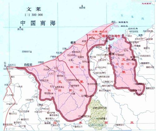 汶莱达鲁萨兰国位於加里曼丹岛北部,北濒南中国海,东南西三面与马来西